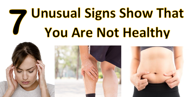 signs showing you are not healthy