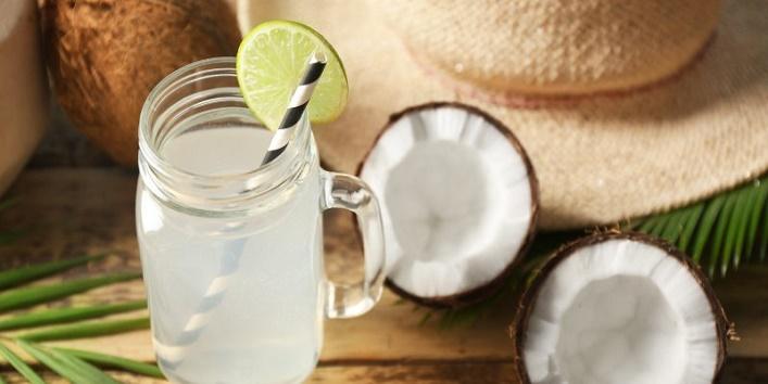 Coconut water with aloe vera gel