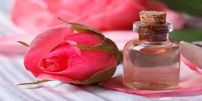 Rose water with aloe vera gel