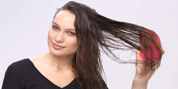 Detangle your hair from downwards moving up