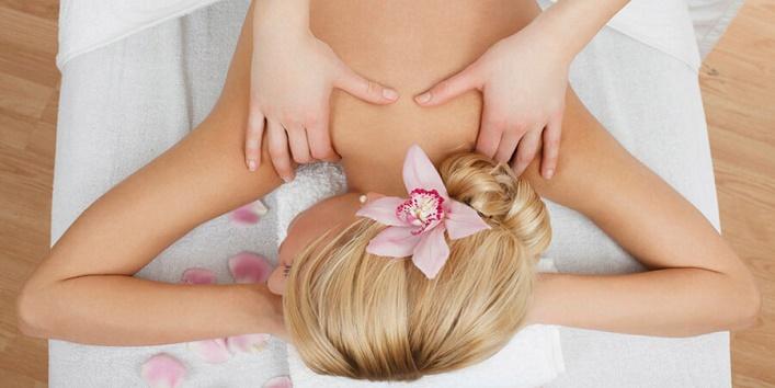 Get a back massage