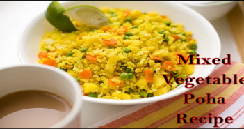 mixed vegetable poha recipe