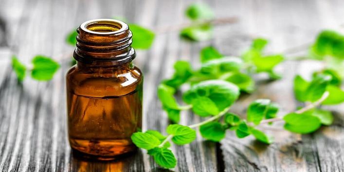 Peppermint oil steam