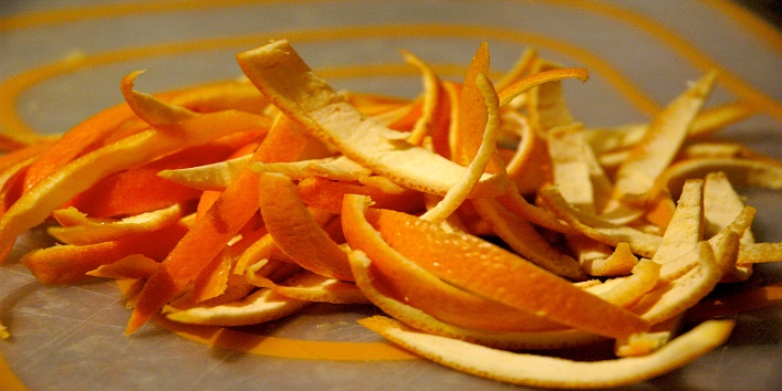 Curd and orange Peel