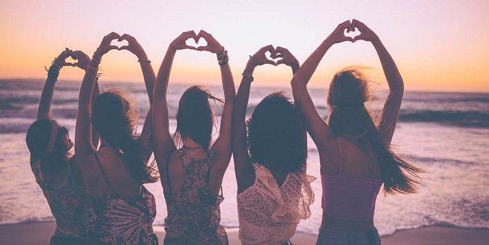Your friends help you to stay happy