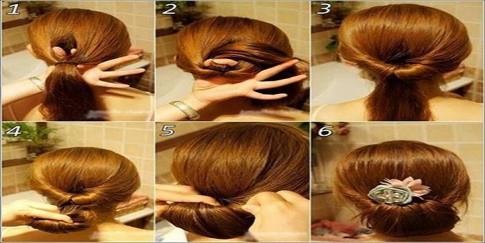 Twisted ponytail bun