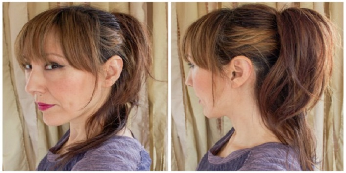 Pumped up ponytail