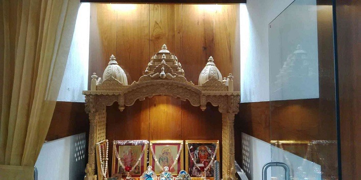Avoid placing your cash box in the puja room