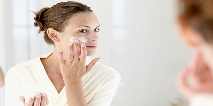 First, moisturize your skin