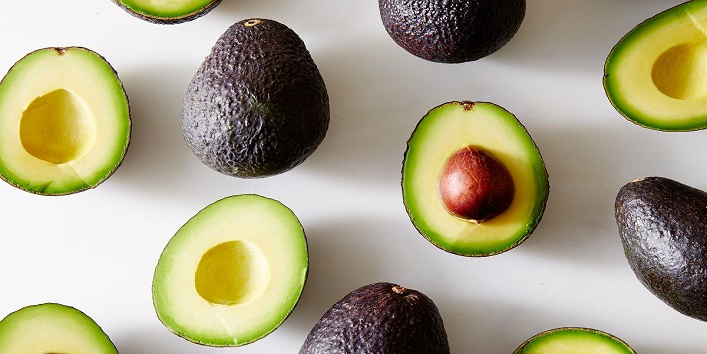 Avocado with baking soda