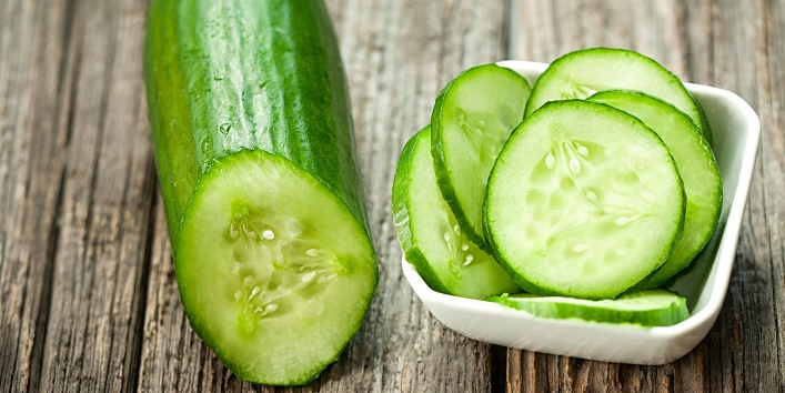Cucumber with baking soda