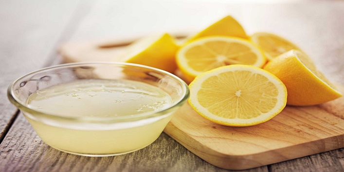 Lemon juice bleach
