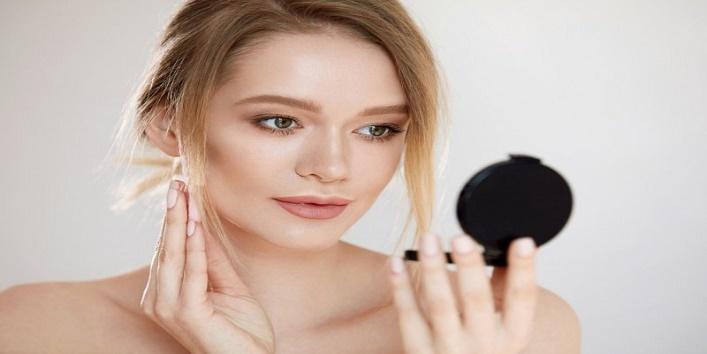 Set your makeup using powder