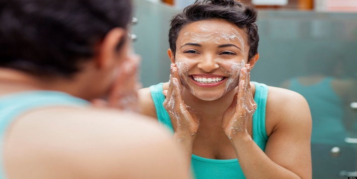 Opt for a gentle face wash